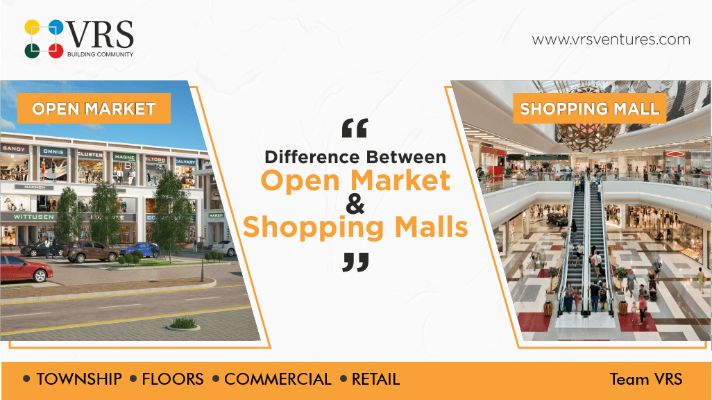 Difference Between Open Markets and Malls
